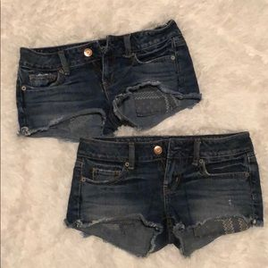 Bundle of American eagle jean shorts!